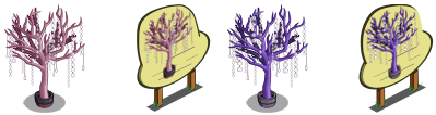 Pink and Purple Crystal Trees