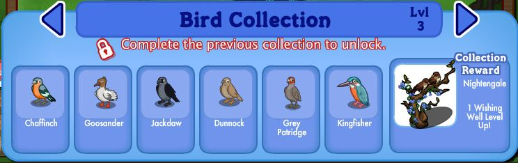 farmville english countryside bird collection