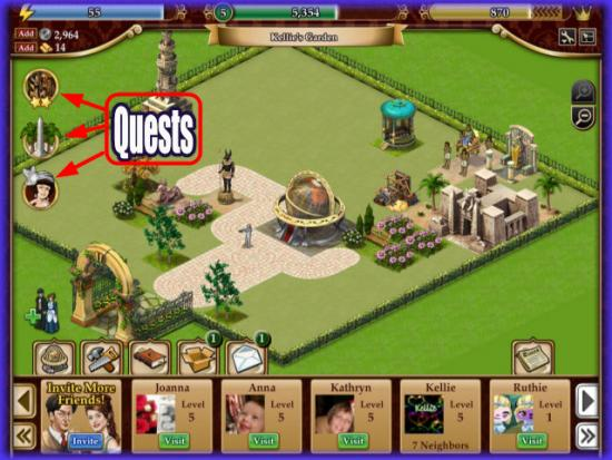 Playdom Gardens of Time Quests