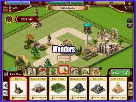 Playdom Gardens of Time Wonder Quest
