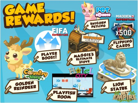 Playfish Cash conversion game rewards