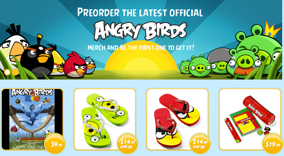 Angry Birds Merch Shop