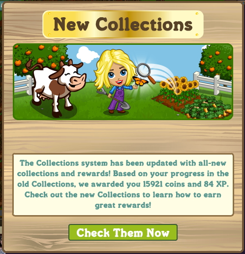 FarmVille Collections Update
