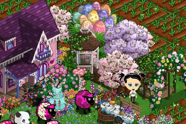 Puple Magnolia Tree in-game