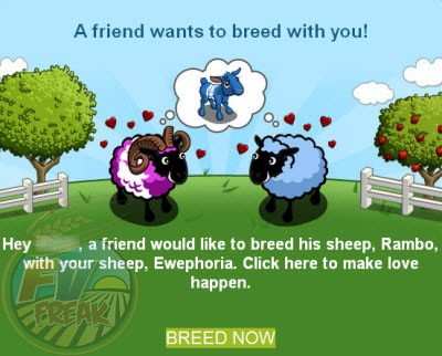FarmVille Sheep Breeding email