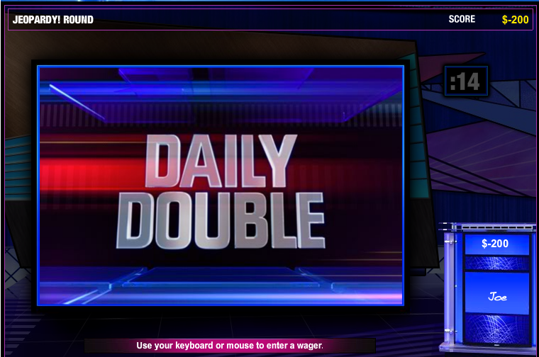 Jeopardy Daily Double