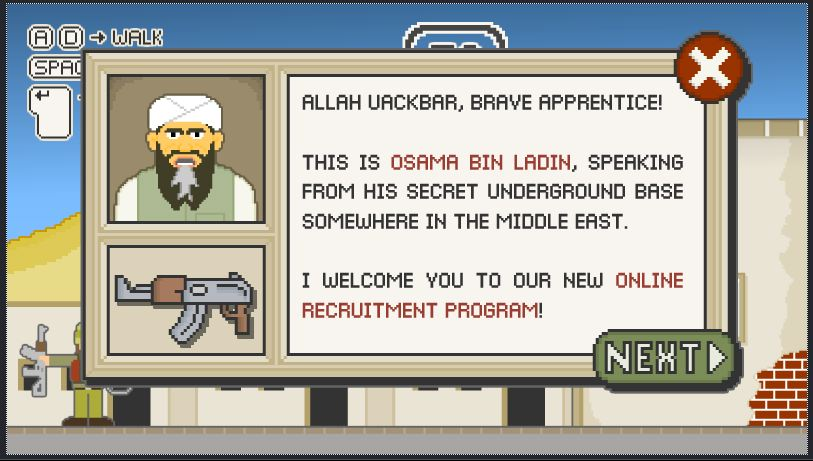 osama bin laden game totally tasteless?