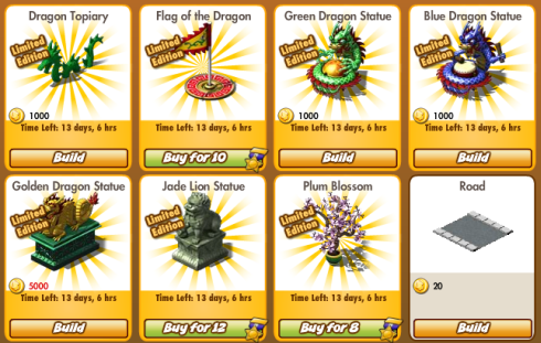 Empires and Allies Dragon Week items
