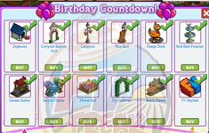farmville birthday countdown collection