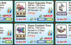 farmville birthday items