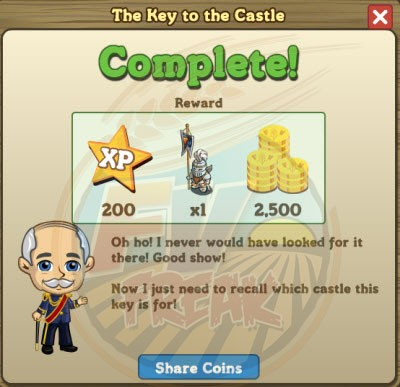 The Key to the Castle rewards