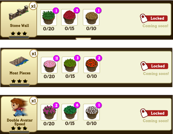 FarmVille Craftshop recipes