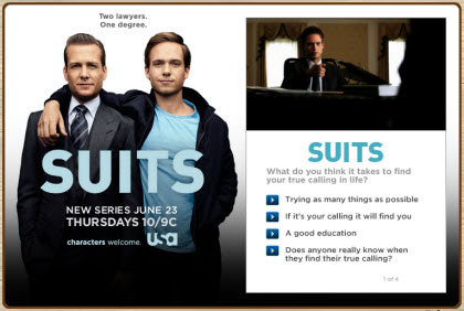Suits FarmVille promo
