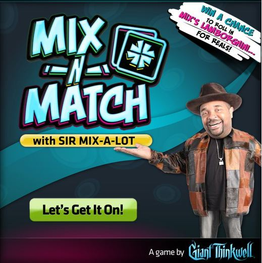 Mix 'n' match with sir mix-a-lot on facebook