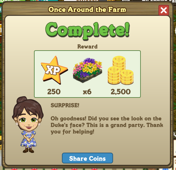 Once Around the Farm rewards