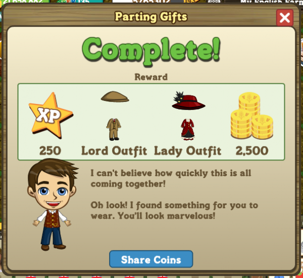 Parting Gifts rewards