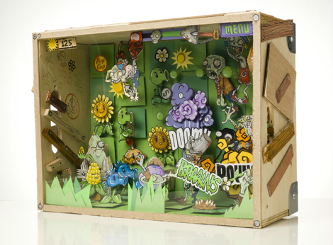 PopCap Plants vs. Zombies diorama