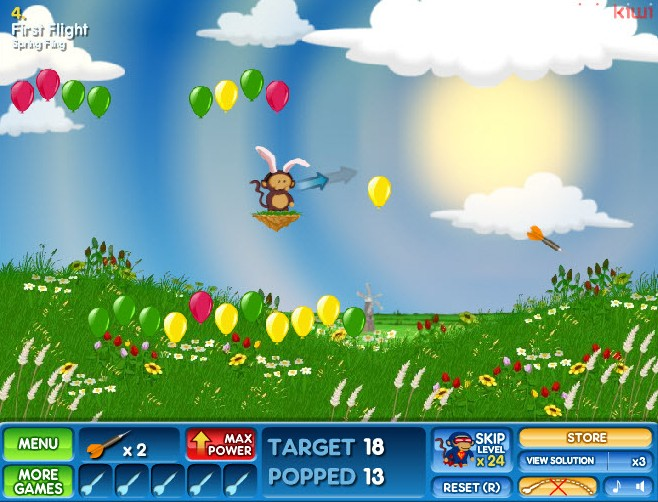 bloons 2 spring fling game of the day