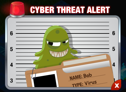 CyberVille green virus bob threat
