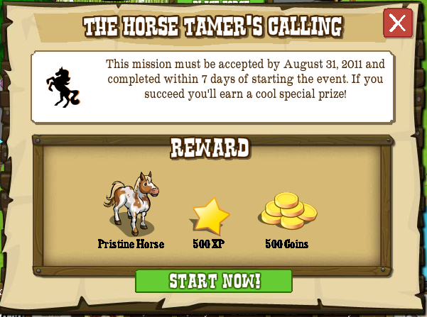 Horse Tamer's Calling rewards