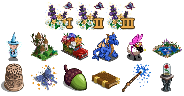 FarmVille Summer Garden items