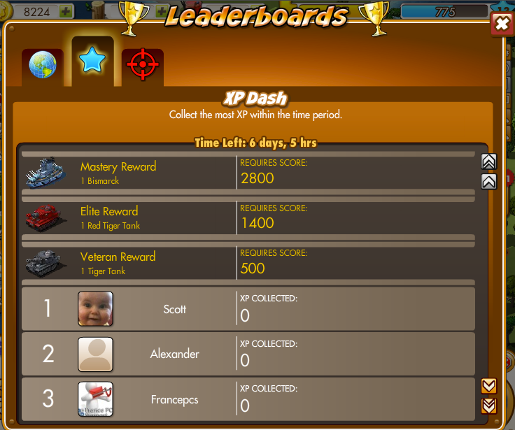 XP Dash Leaderboard