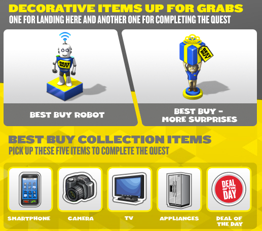 Best Buy CityVille items