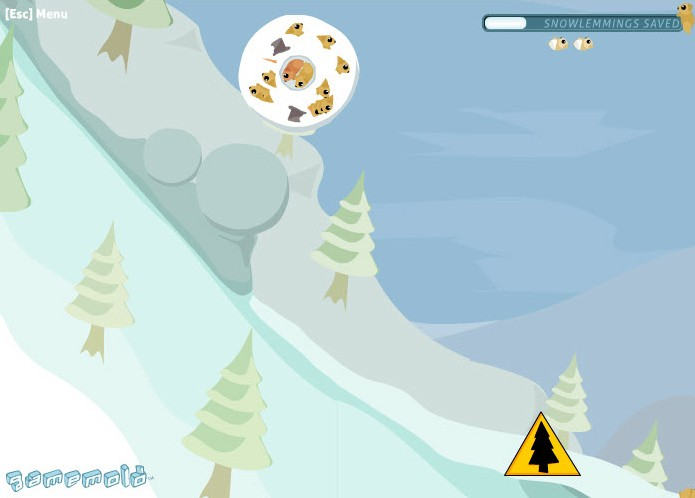 snow lemmings game of the day