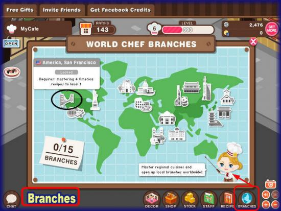 World Chef Branches map