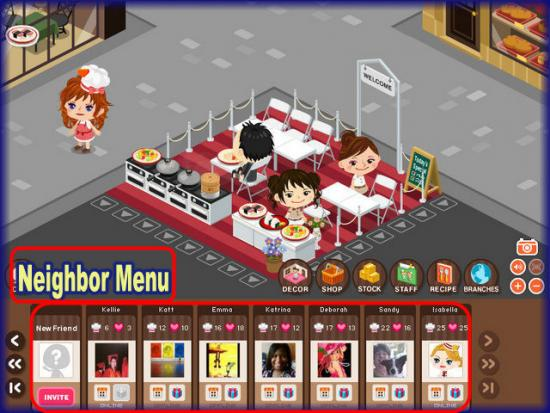 World Chef neighbor menu bar