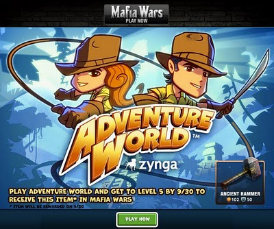 Adventure World Mafia Wars promo