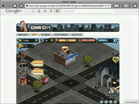Crime City in iSwifter for iPad