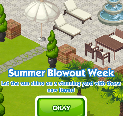 The Sims Social Summer Blowout Week
