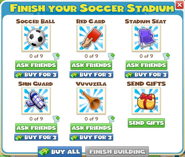 Finish your Soccer Stadium