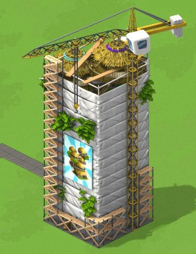 CityVille Tonga Tower incomplete