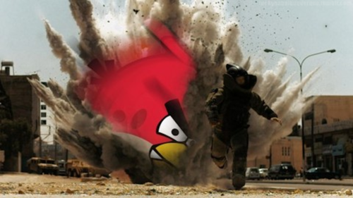 Angry Bird explosion