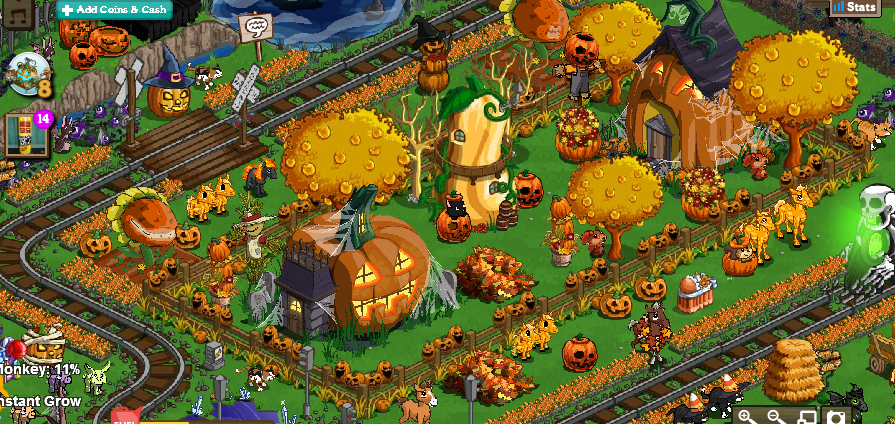 and aside from being massive aubbreezys farm is also divided into various sections each with its own focus just like pumpkinville - Farm Halloween