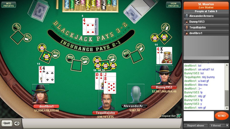 blackjack game of the day