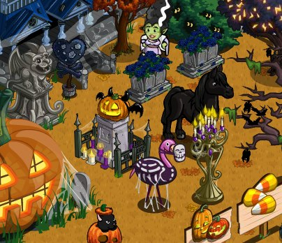 only see the launch of the apple bobbing barrel feature in the game but theres also been an addition to the current halloween limited edition item - Halloween Items