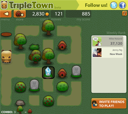 Triple Town gameplay