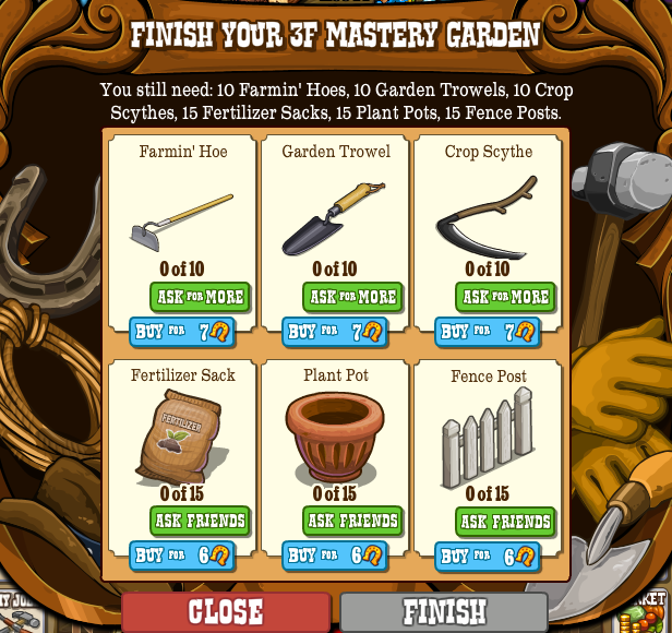 Finish your 3F Mastery Garden
