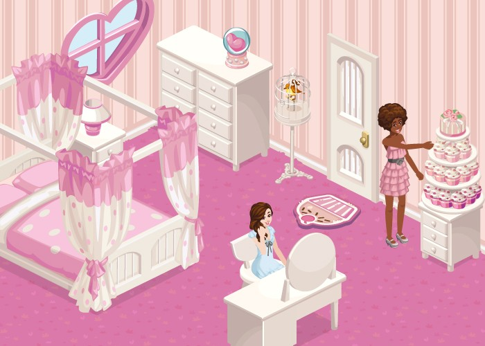 The Sims Social Pink Paradise