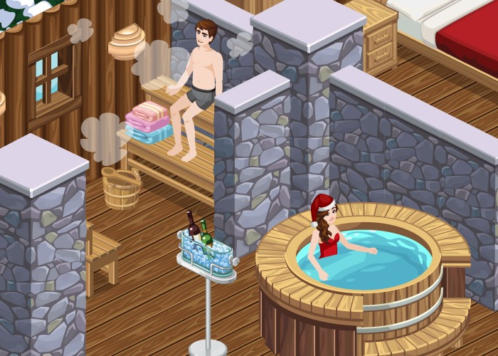 The Sims Social Winter Chalet Hot Tub