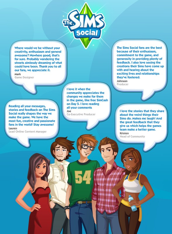The Sims Social thanks