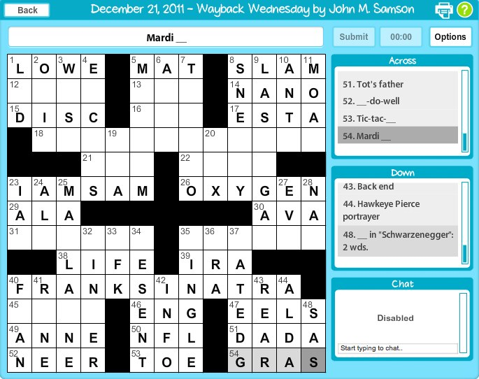 Crosswords on Facebook brings real world crosswords to the