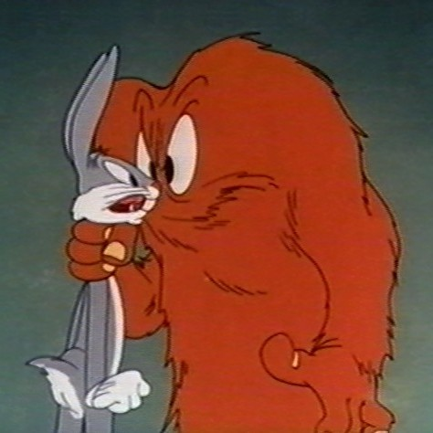Gossamer and Bugs Bunny