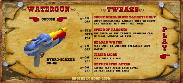 loaded waterguns game of the day