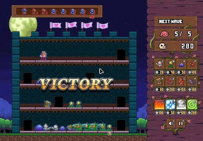 monster castle defense game of the day