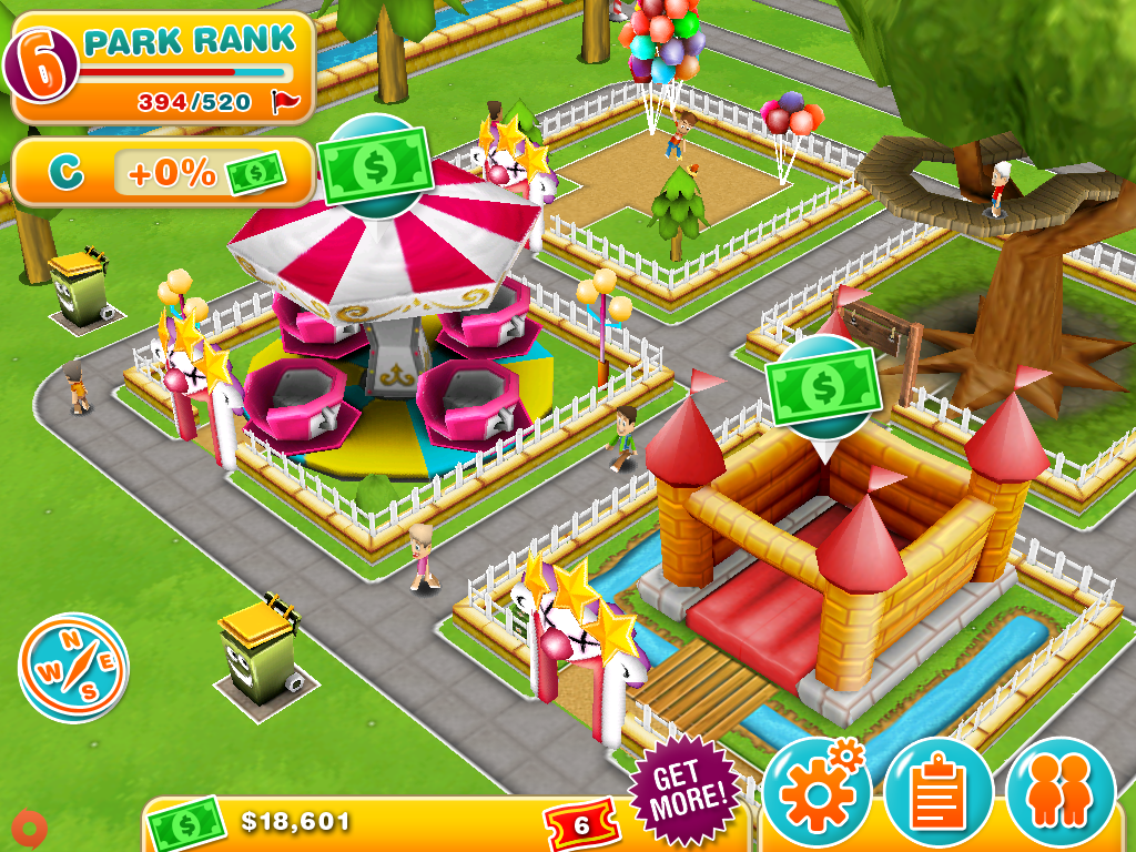 Theme Park on iOS is an expensive, slow-moving experience - AOL Games