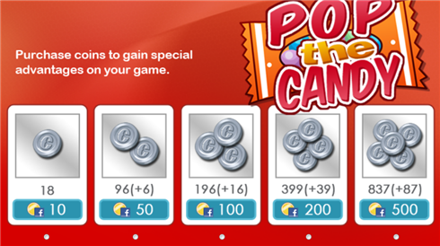 POP the CANDY buy coins